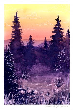 Paradise Park - Watercolor